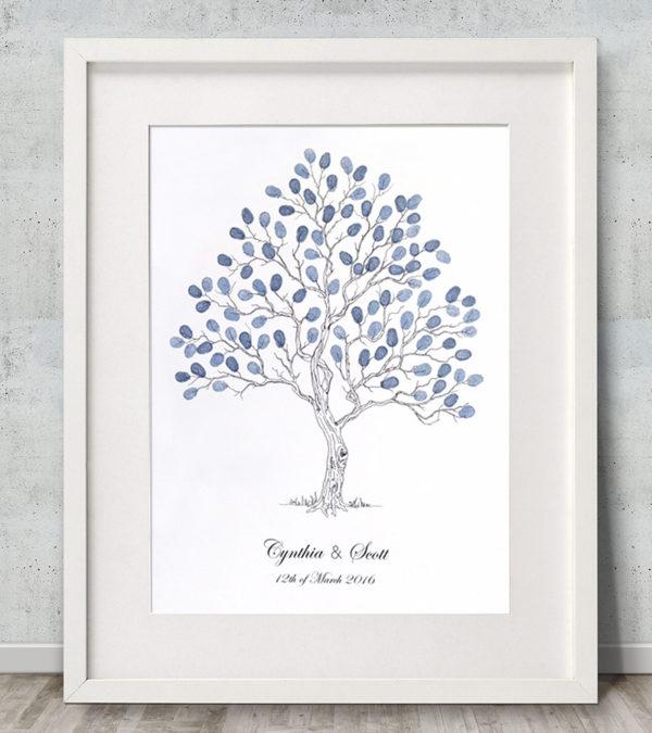 Wedding tree Fingerprint tree Fingerprint Guest Book Alternative guest book Family tree