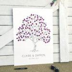 Fingerprint Tree, Wedding Tree Fingerprint guest book Alternative guest book