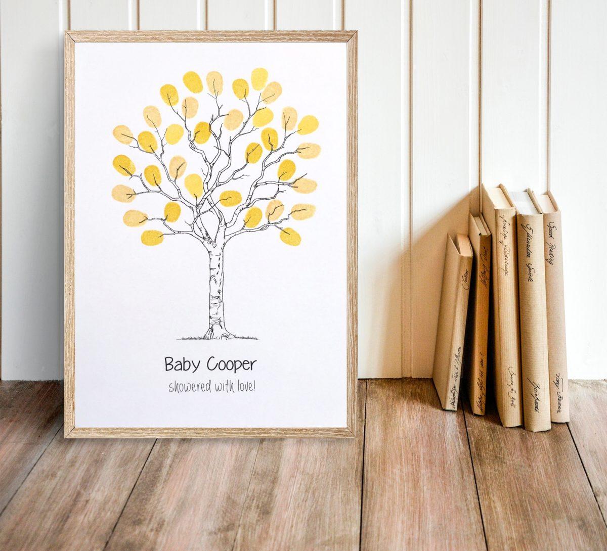 Fingerprint Guest Book Tree Contemporary Tree Design