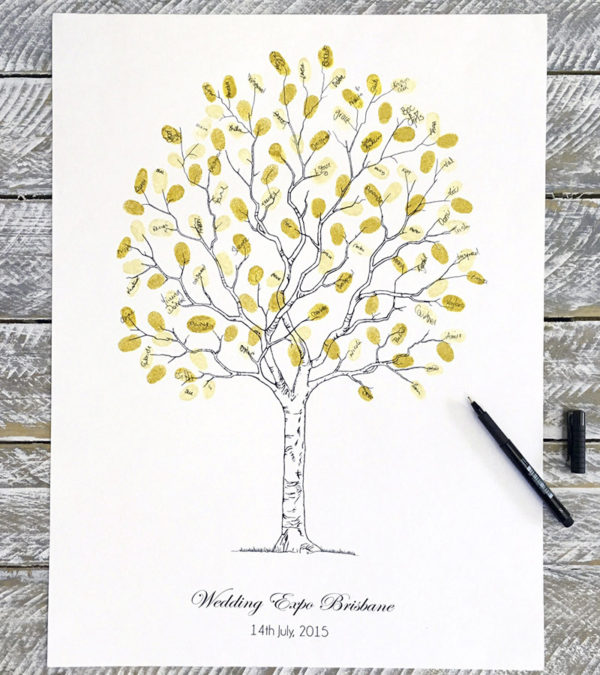 Wedding Fingerprint tree Contemporary Tree style