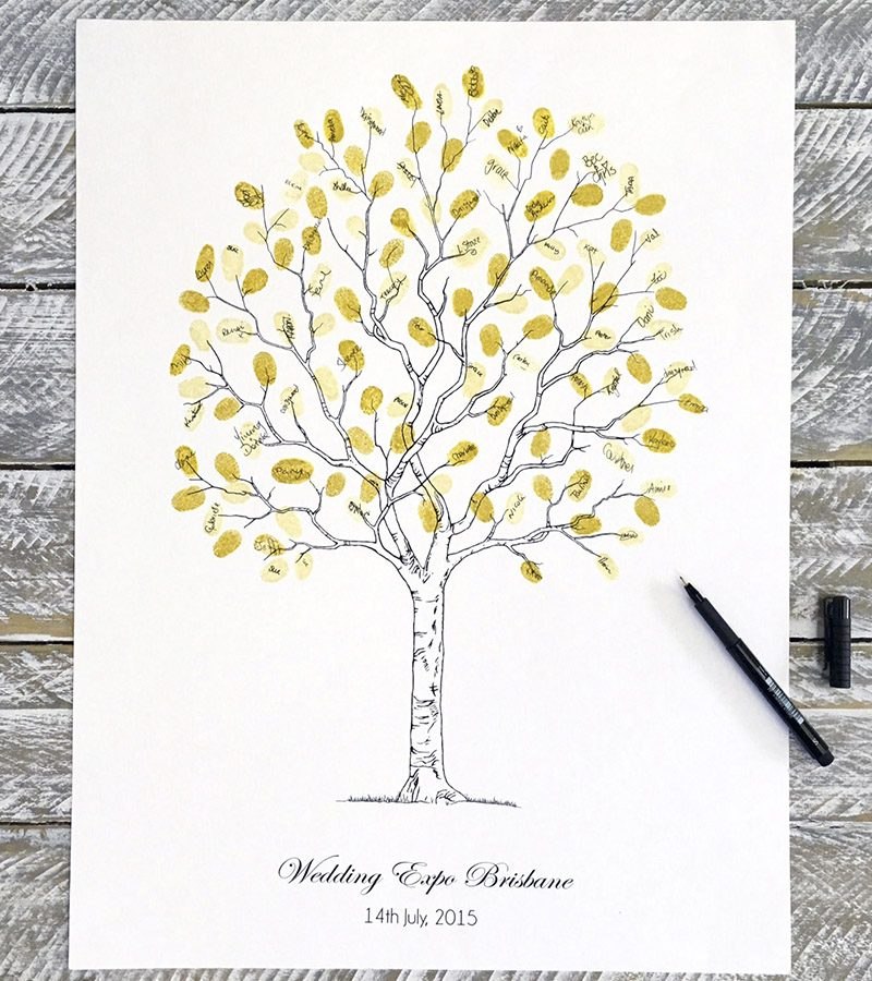 Wedding Fingerprint tree Contemporary Tree style