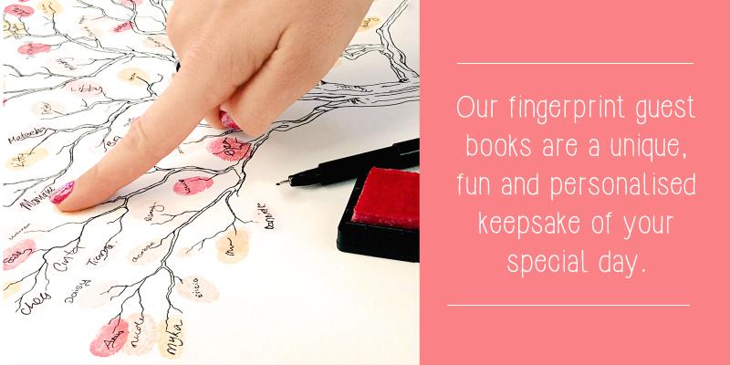 Fingerprint tree guest book alternative
