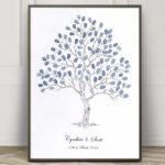 Fingerprint Tree, Wedding tree, Fingerpint Guest Book, Thumbprint Guest Book, Alternative guest book, Wedding