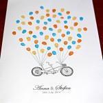 Fingerprint guest book tandem bike personalised