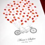 Fingerprint guest book personalised, Tandem bike for weddings & engagements