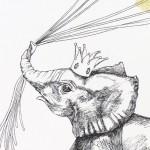 Fingerprint guest book idea - elephant close up