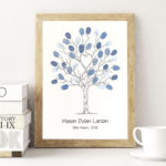 A4 Unity Tree - Wedding tree - Fingerprint tree - Fingerprint guest book - Alternative guest book