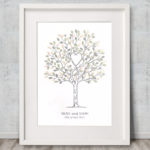 A2 Unity Tree - Wedding tree - Fingerprint tree - Fingerprint guest book - Alternative guest book