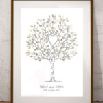 A3 Unity Tree - Wedding tree - Fingerprint tree - Fingerprint guest book - Alternative guest book
