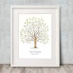 Fingerprint tree Guest book, Wedding Tree, Alternative Guest book, Family tree, Christening keepsake, Naming Ceremony keepsake