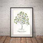 Fingerprint tree A3 size. wedding tree, family tree, Alternative guest book, guest book ideas.