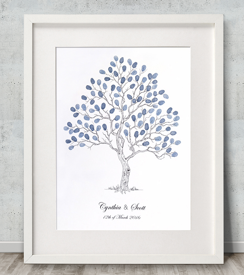 Wedding tree Fingerprint tree Fingerprint Guest Book Alternative guest book Family tree