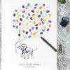Elephant Baby Shower Fingerprint guest book