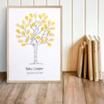 Fingerprint tree - Baby Shower, Christening, Wedding Naming Day, Family tree