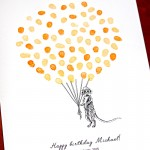 Fingerprint guest book. Cheeky Meerkat, Personalised guest book. Perfect for birthdays, launches, farewells, retirements