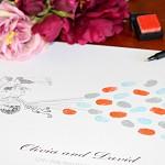Fingerprint guest book, wedding