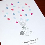 Baby bundle fingerprint guest book for new baby arrivals. The Perfect gift and keepsake for new mums to cherish and love forever.