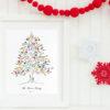 Christmas Guest book, fingerprint guest tree