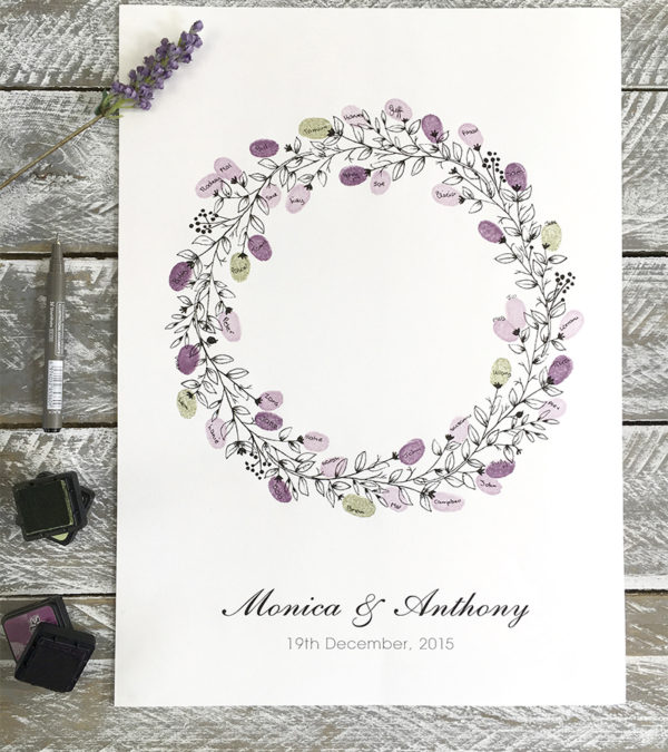 Wedding Guest Book Wreath Round