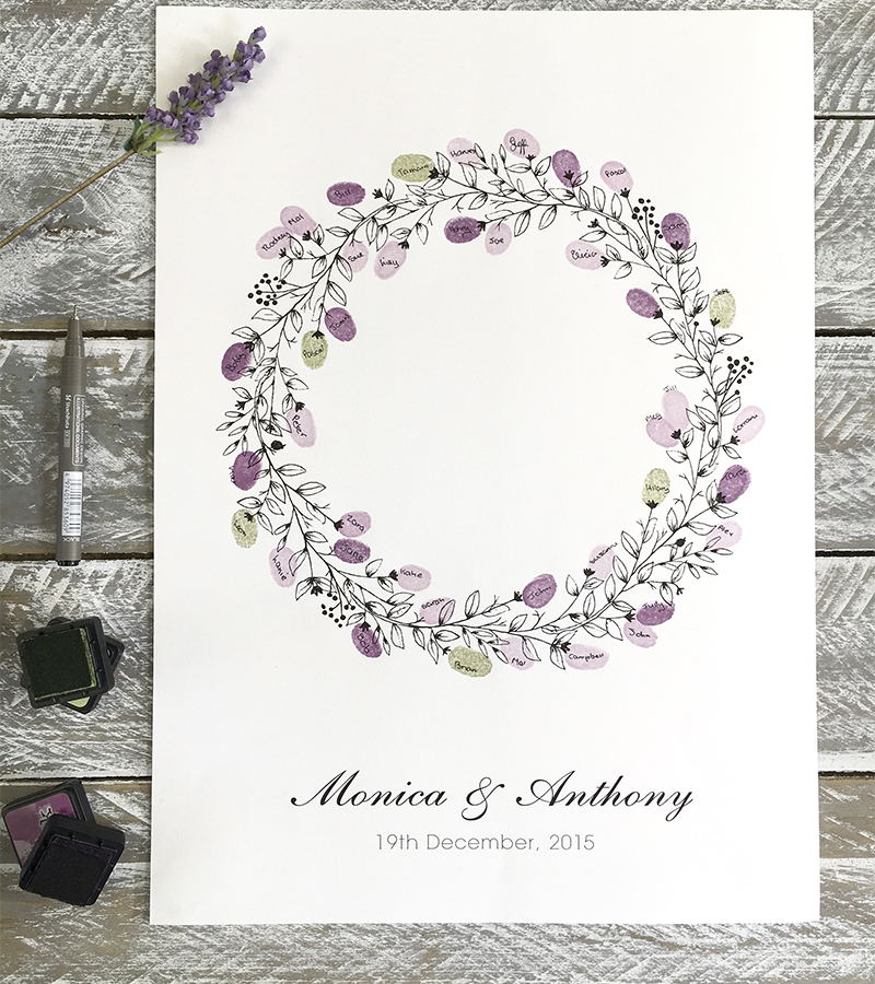 Wedding Guest Book Wreath Round