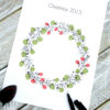 Christmas Wreath Fingerprint Guest Book