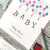 baby shower guest book. Alternative guest book. Baby shower fingerprint guest book. baby shower idea.