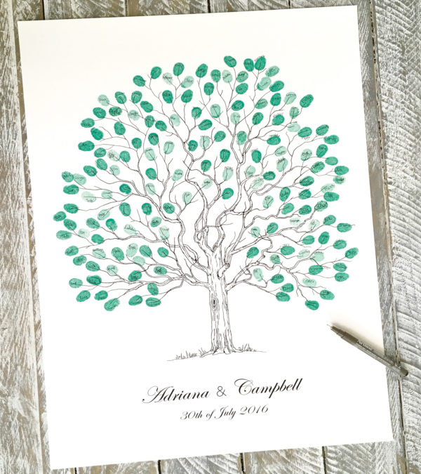 Wedding tree guest book