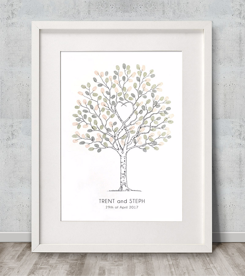 Unity Tree Wedding Fingerprint Guest Book Alternative