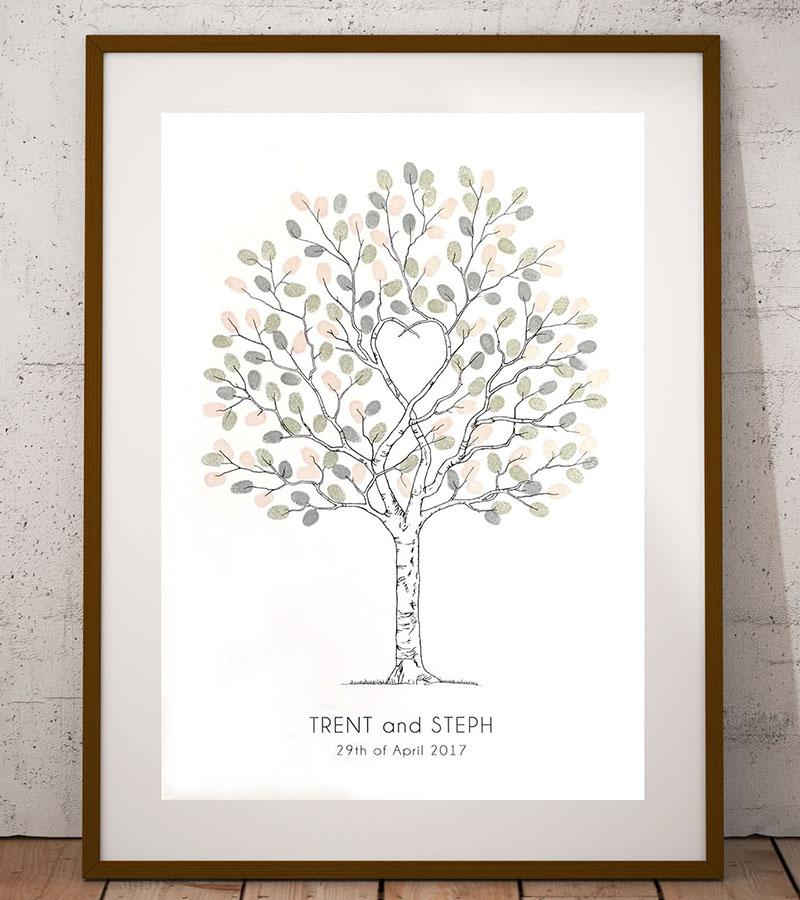 Wedding Tree Guest Book: Wedding Fingerprint Guest Book