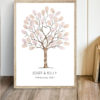 Guest book tree Christening Wedding Fingerprint tree family tree