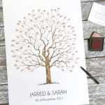 Fingerprint tree Guest book, Wedding Tree, Alternative Guest book, Family tree, Christening keepsake, Naming Ceremony keepsake