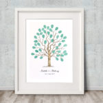 Fingerprint tree, Wedding Tree, Alternative Guest book, Family tree, Christening keepsake, Naming Ceremony keepsake