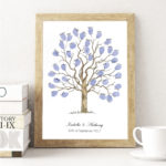 Fingerprint tree, fingerprint Guest book, Wedding Tree, Alternative Guest book, Family tree, Christening keepsake, Naming Ceremony keepsake