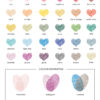 Colour Chart for Fingerprint Hearts