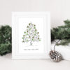 Christmas tree guest book